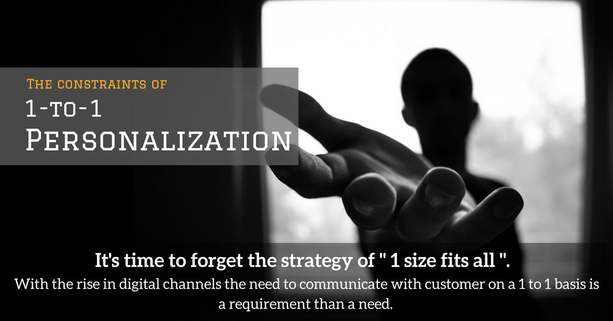 1 to 1 personalization