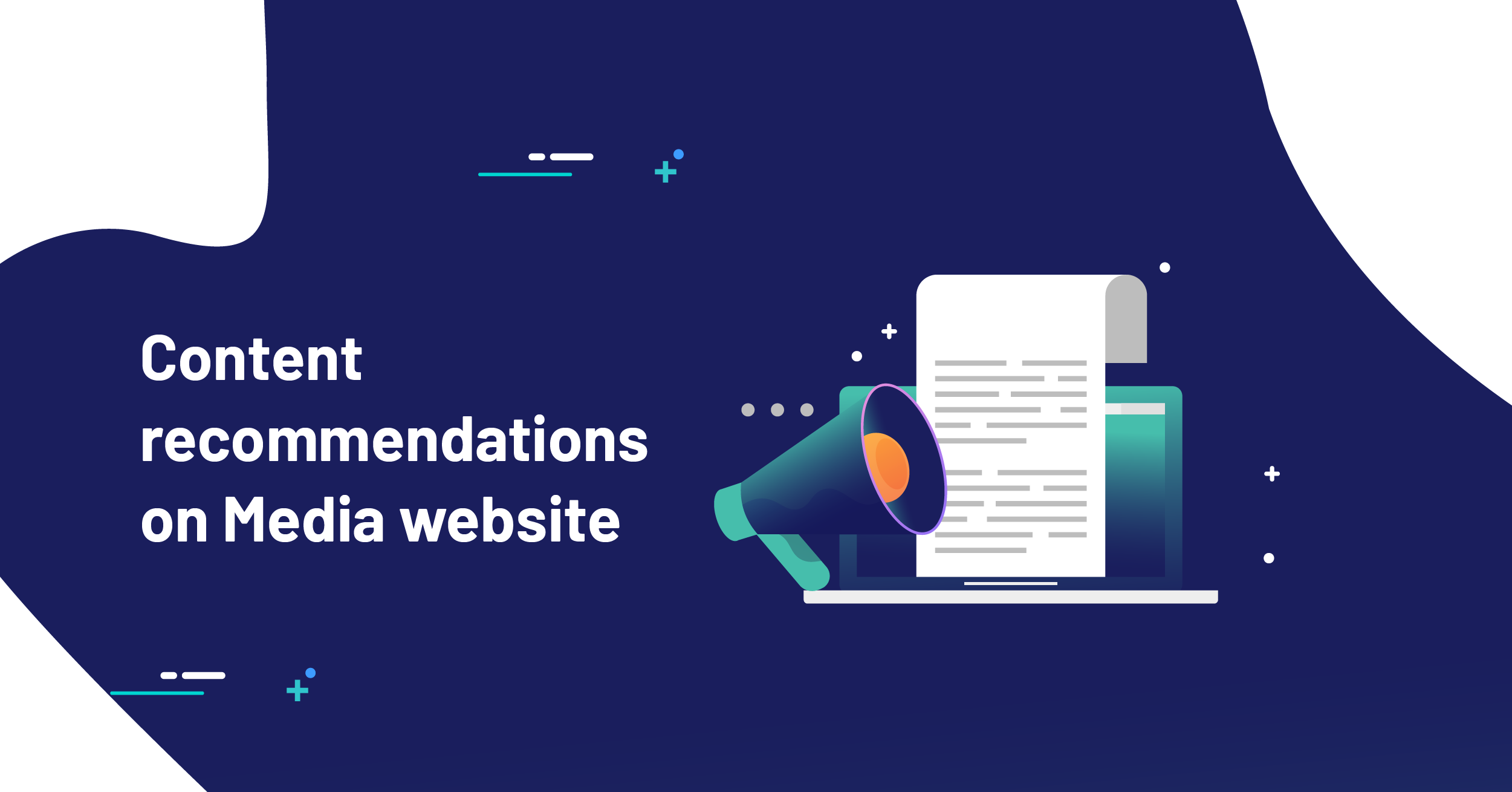 Content recommendations on Media website