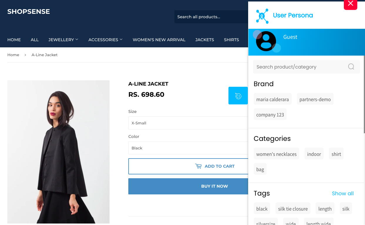 Buyer Persona with Tags