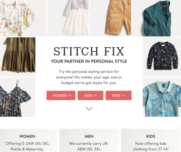 stitch fix uses product recommendation